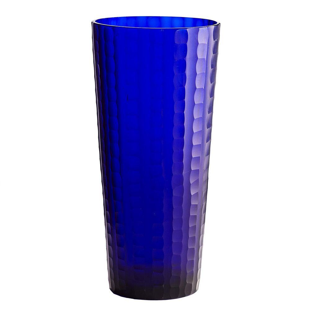 Indigo hand etched glass vase tall indigo glass and indigo hand etched glass vase tall floridaeventfo Image collections