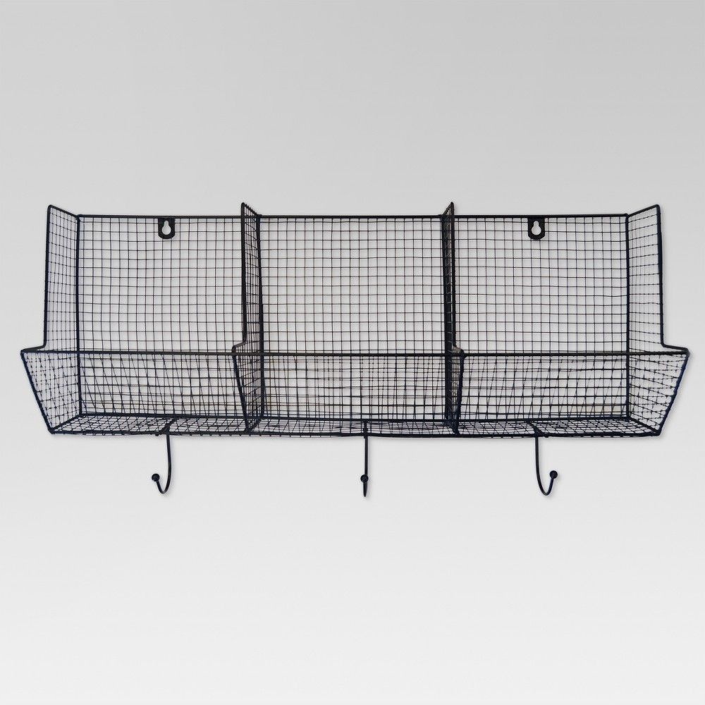 Organize Your Life With The 3 Piece Wire Basket With Hooks 12x24 This Hanging Basket Is Perfect For Organizin Wire Baskets Hanging Wire Basket Baskets On Wall