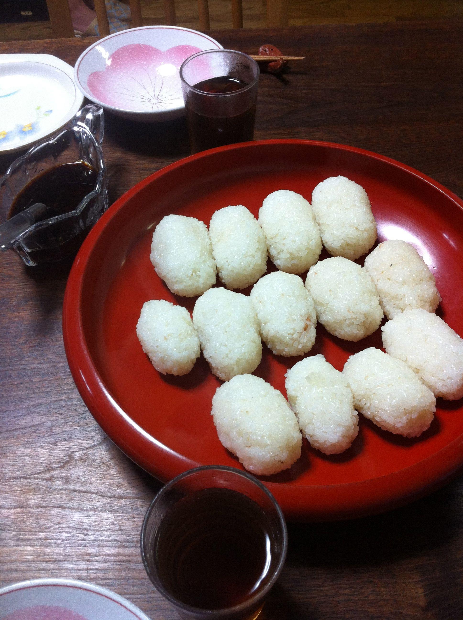 Homemade rice balls. | Food, Yummy food, Japan food