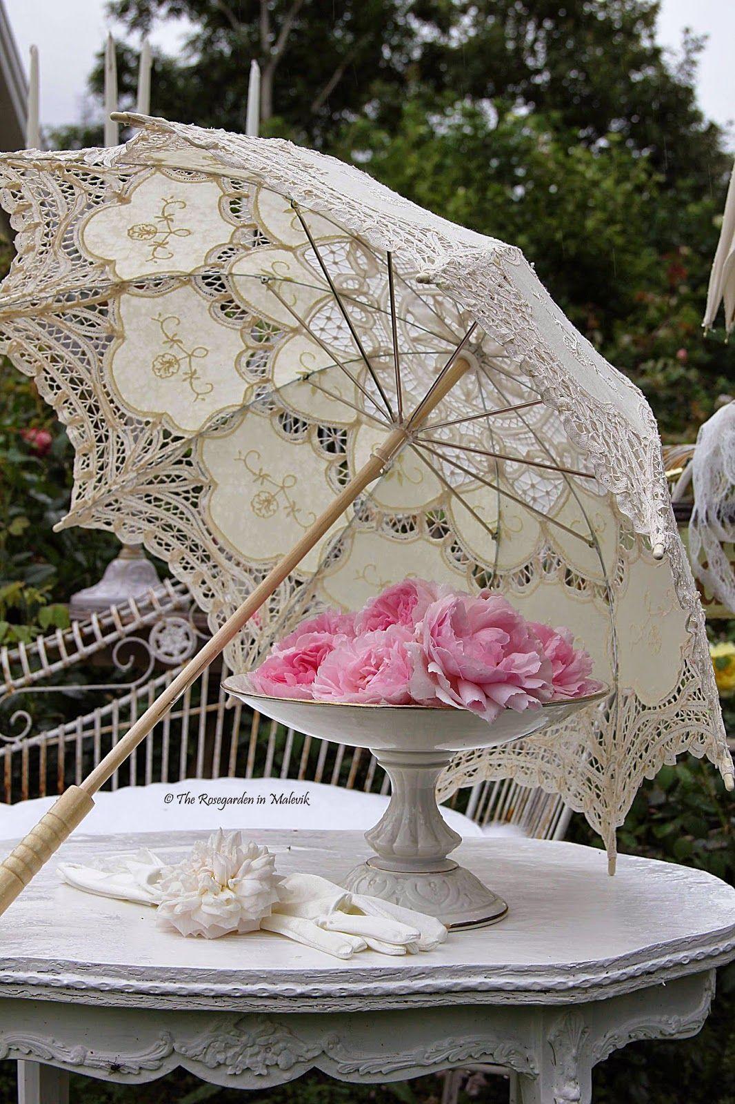 ROSE GARDEN Malevik Style shabby chic, Parapluie, Shabby