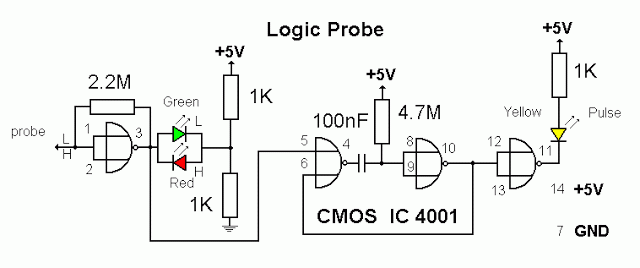 Stupendous Ttl Logic Probe Electronics In 2019 Circuit Design Electronics Wiring 101 Cranwise Assnl