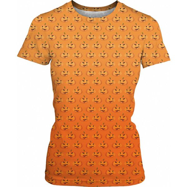 orange halloween pumpkin pattern ($31) ❤ liked on Polyvore - patterns for halloween decorations