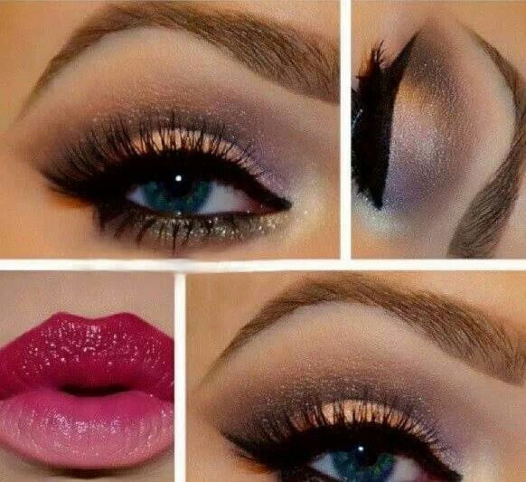 Really loving the lipstick, especially paired with this eye makeup.