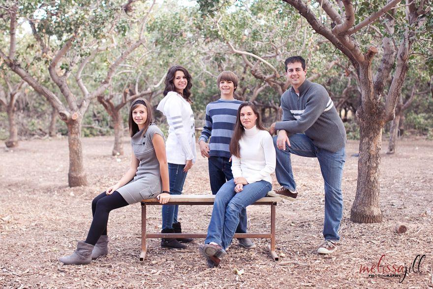Family Portrait Pose For Older Kids