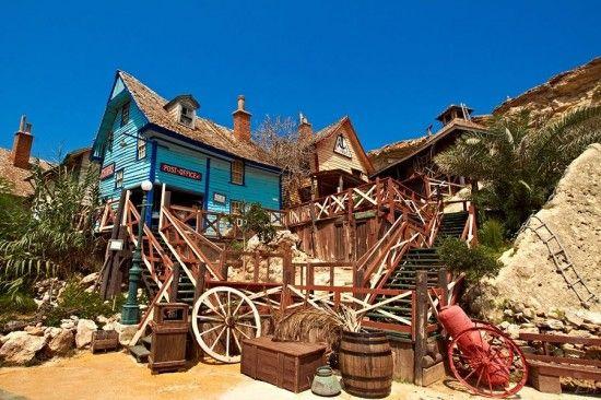 Popeye's Village in Real Life | Tourist attraction, Malta ...