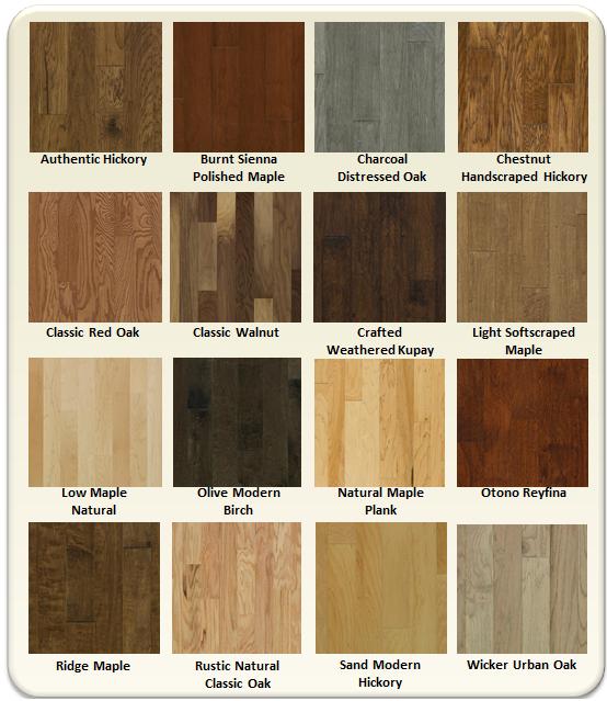 Array Of Hardwood Colors