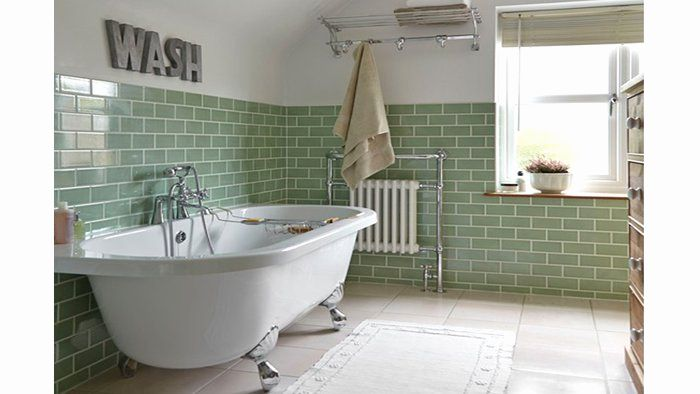 carrelage metro vert in 2019 | Industrial bathroom design, Bathroom, Victorian bathroom