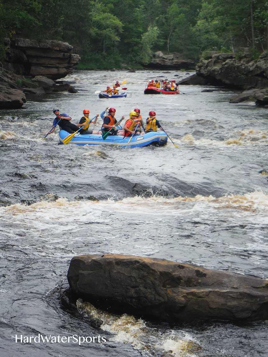 Whitewater rafting in Banning State Park near Sandstone