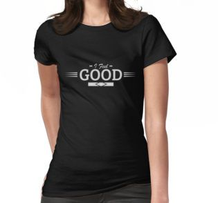 I Feel Good, Black Angel, astract, color, special, edition, words, apparel, inspirational, inspiring, cool, spiritual, black, white, notebook, phone, case, ipad, Tshirt, skirt, bag, Art, Artist, A-Line Dress