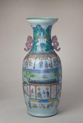 粉彩御窑厂图大瓶 - Fencai, Collection of The Palace Museum, China