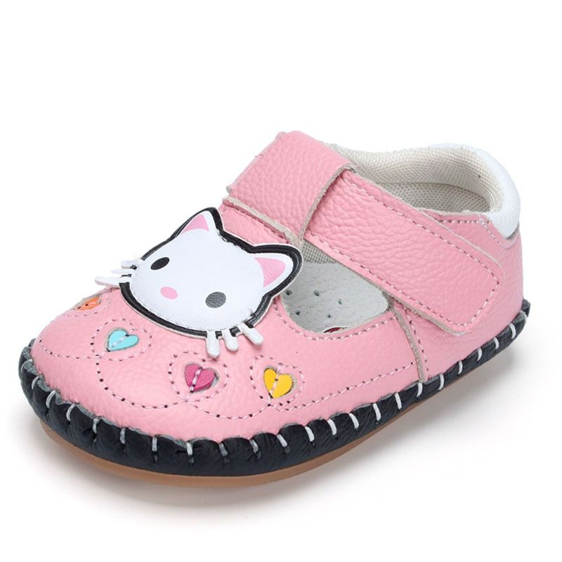 4a9ea09a0194 GZ Newborn Baby Shoes Cute Cartoon Kitty Baby Footwear Spring Baby Girl  Shoes Soft Sole Cow Leather Shoes Infants Crib Shoes Review