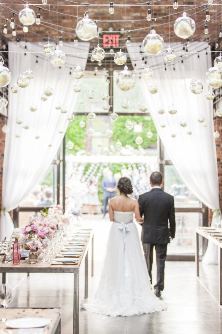 Romantic Outdoor New York Wedding at The Foundry (With