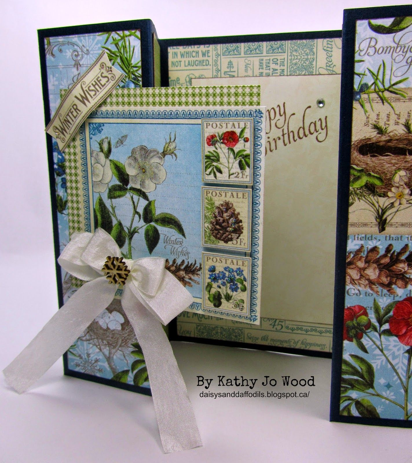 Graphic 45 fancy fold card double gate fold time to flourish graphic fancy fold card double gate fold time to flourish happy birthday kristyandbryce Choice Image