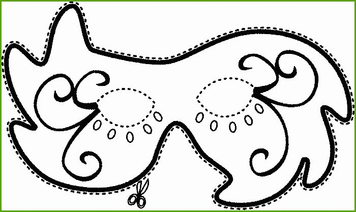 Malvorlage Venezianische Maske