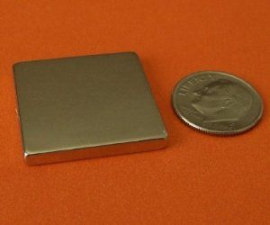 "Applied Magnets ® 10-pc Rare Earth Magnets 1"" x 1"" x 1/8"" Neodymium Blocks by Applied Magnets. $17.75. Rare earth magnets neodymium NdFeB made by Applied Magnets are composed of top quality Neodymium, Iron, Boron raw materials, they have excellent magnetic property and extremely strong for its small size. rare earth neodymium magnets are the strongest types of permanent magnets. They have highest maximum energy product among all permanent magnets. The corrosi..."