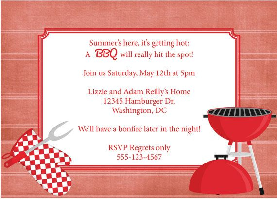 bbq invitation barbeque invite diy printable by cowprintdesigns