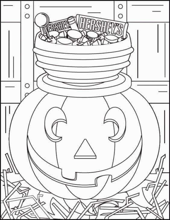Jack O Lantern Coloring Pictures To Print.