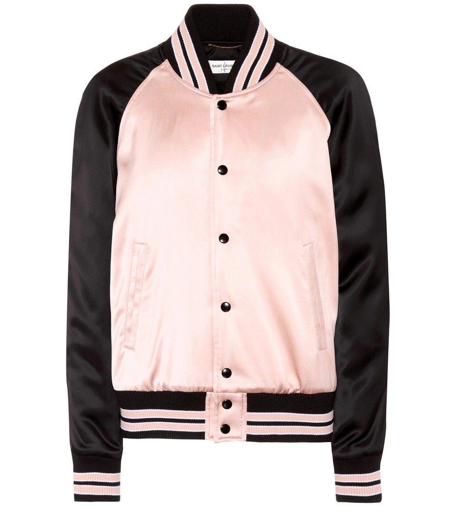 e24f75bf0004c Satin bomber jacket in 2019 | جاكت | Pink bomber jacket, Satin ...