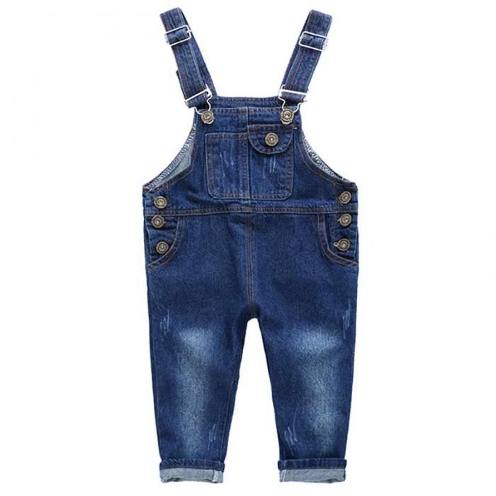 352dd1ff17d Awesome Fashion Spring Autumn Children s Overalls Girls Boys Denim Jeans  Pocket Jumpsuit Bib Pants Kids Baby Overall M09 -  33.75 - Buy it Now!