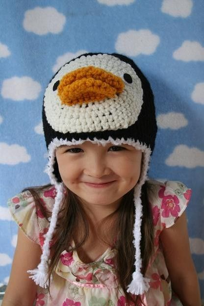 Silly Penguin Crochet Hat ( Made To Order, available in all baby to ...
