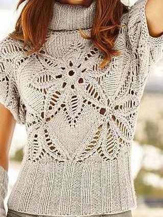 a34072b3c4 Csinos és különleges mintával kötött női pulóver minta nagyítva séma, minta  magyar jelmagyarázat a pulóver forrása: Gabriella Alácsi a minta, séma  forrása: ...