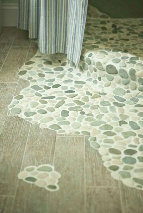 Love this do it yourself pinterest explore stone shower floor pebble floor and more solutioingenieria Image collections