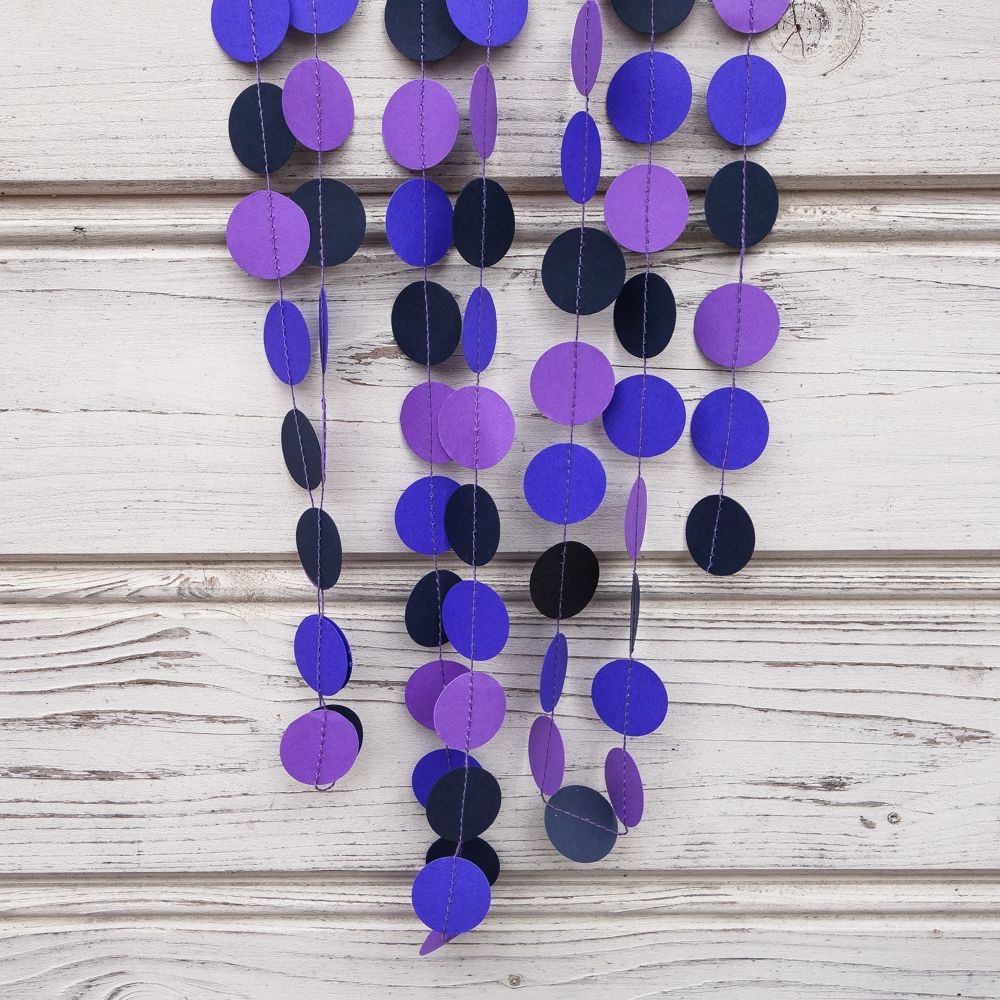Purple and blue wedding decor  Blue garland Purple garland Blue wedding garland Purple party