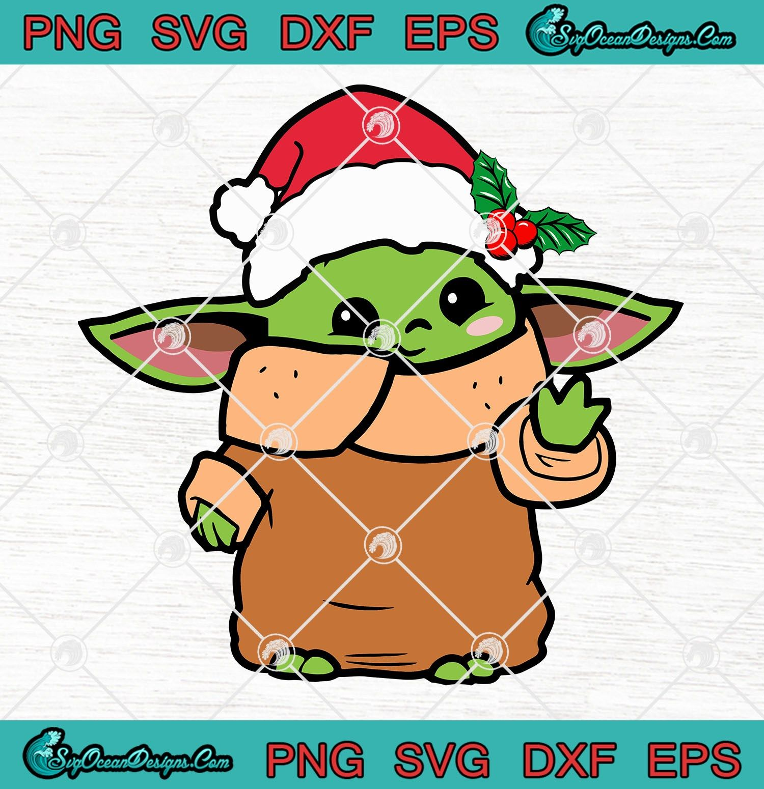Baby Yoda Christmas Star Wars The Mandalorian SVG PNG EPS
