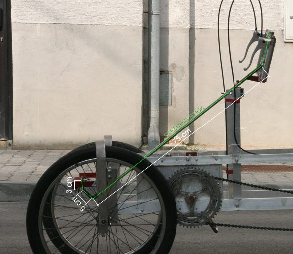 Steering Stick Of Adult Sized Self Made Four Wheel Bicycle