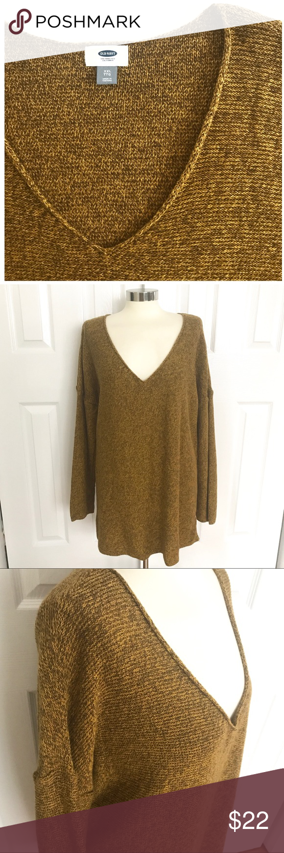 Old Navy Vneck Sweater | Mustard yellow, Navy sweaters and Mustard