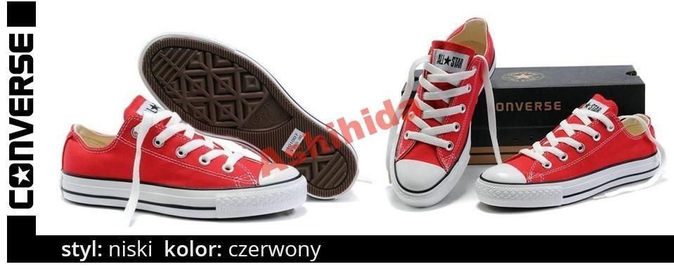 Converse All Star Czerwone Rozmiar 38 Wysylka 0zl 4328845784 Oficjalne Archiwum Allegro Converse Chucks Converse Converse All Star
