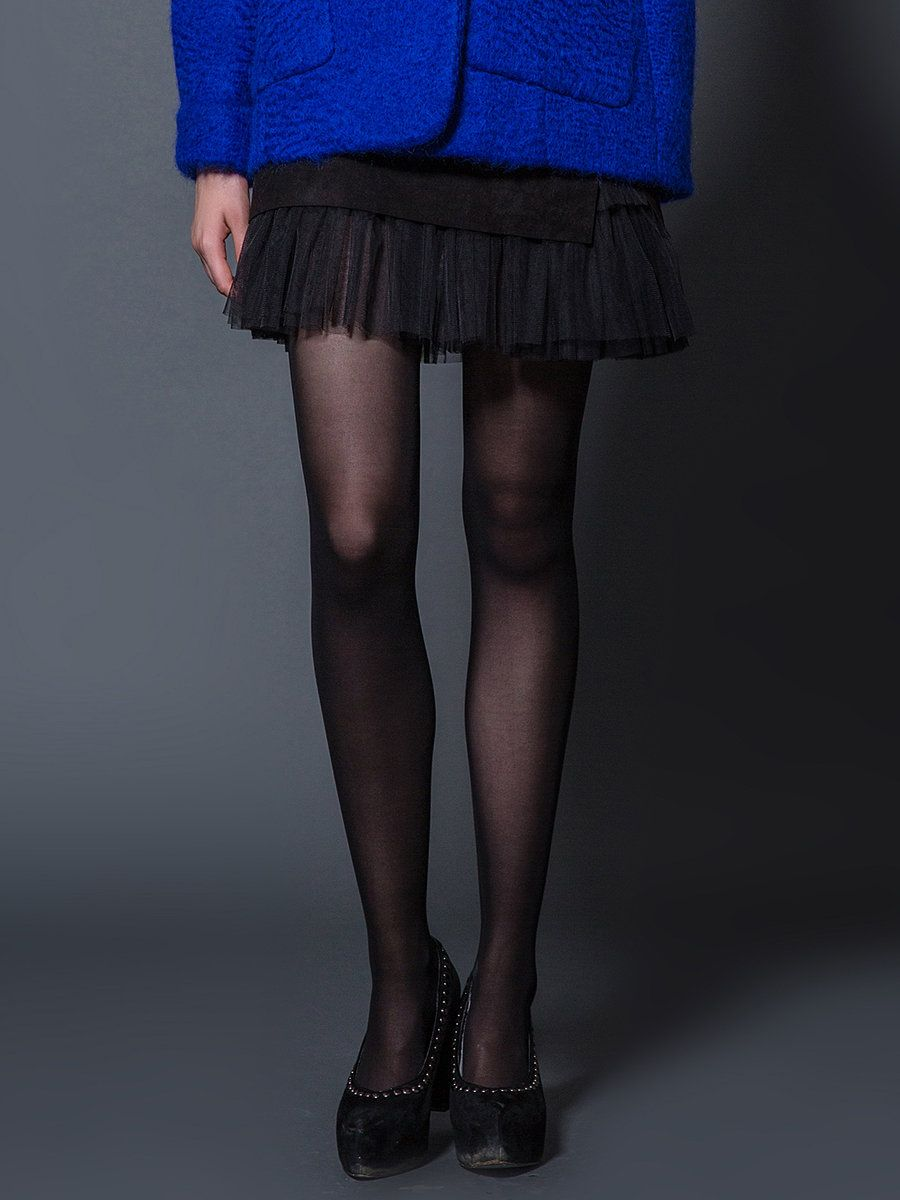 #AdoreWe #StyleWe MAXRIENY Black A-line Casual Mesh Paneled Mini Skirt - AdoreWe.com