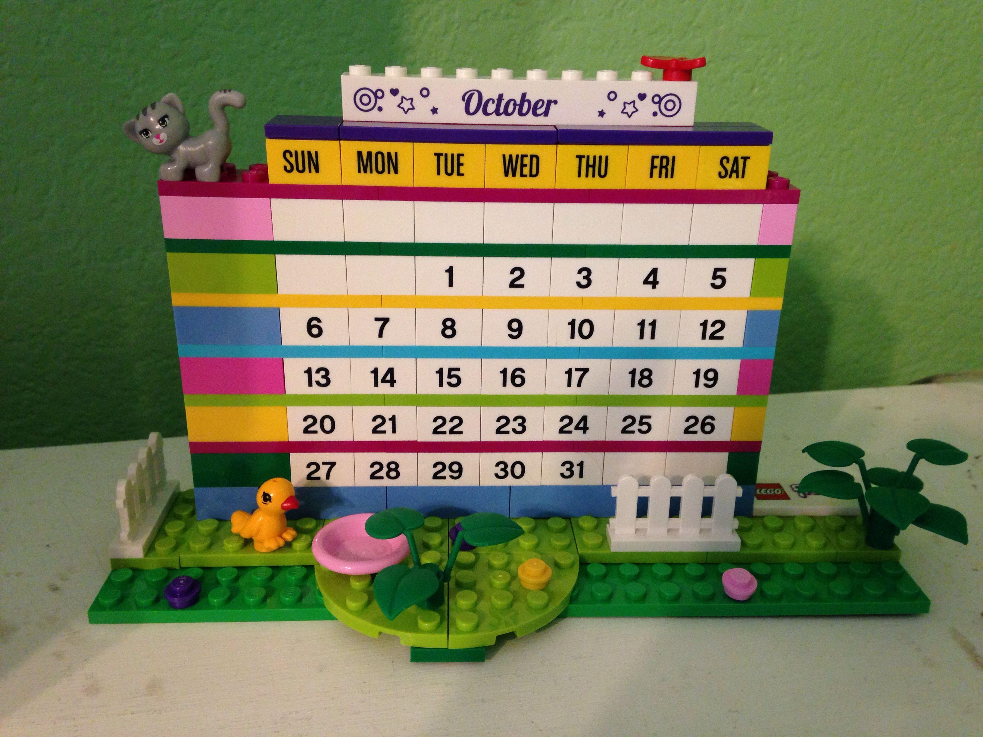 Lego Calendar Rebuild Every Month Www Lego Com Lego Calendar