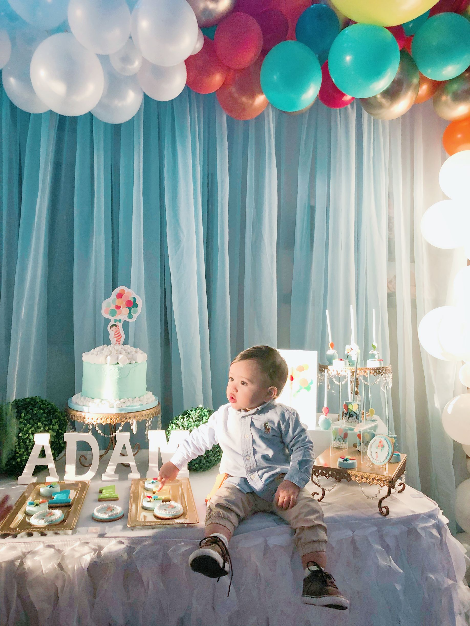 The Wonderful Things You Will Be 1st Birthday Party Boy Baby Birthday Themes Boy Birthday Parties 1st Birthday Parties