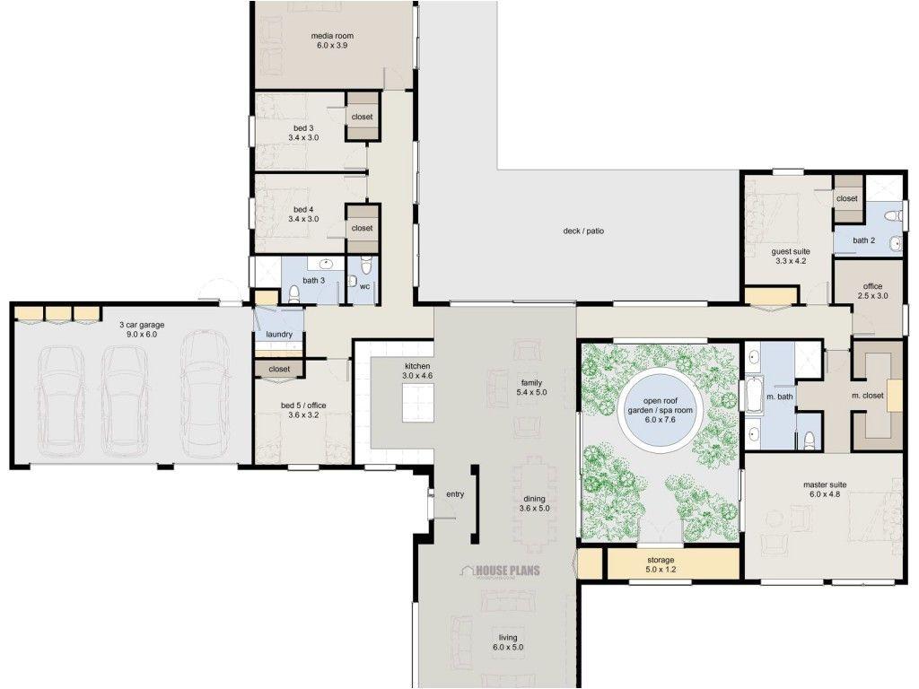 Luxury Home Design Plan Di 2020 Denah Rumah Denah Lantai Rumah Denah Lantai