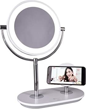 Ottlite Wireless Charging Led Makeup Mirror Illuminated Magnifying Light With Usb Port In 2020 Led Makeup Mirror Makeup Mirror Mirror