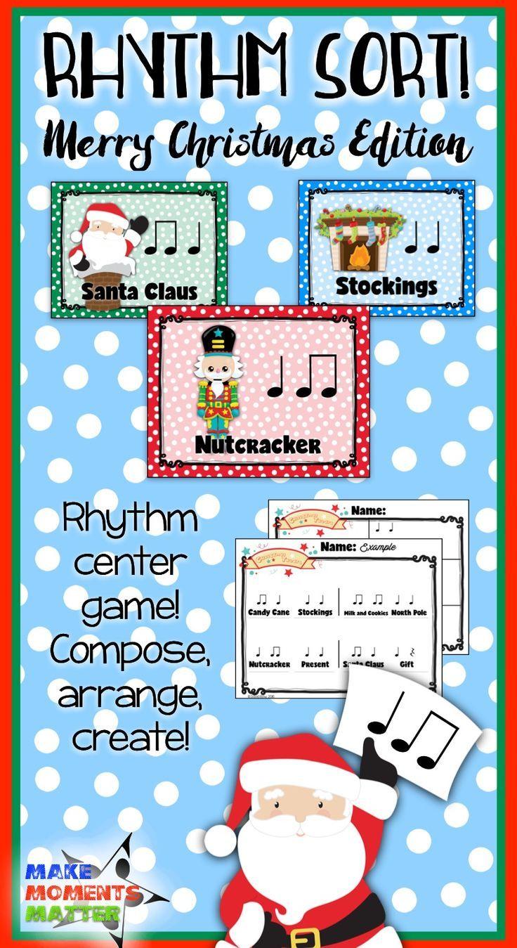 Rhythm Sort - Merry Christmas Edition for Rhythm Centers and ...