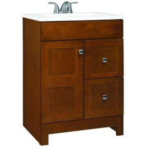 American Classics, Artisan 24 In. Vanity With Marble Vanity Top In White  With White