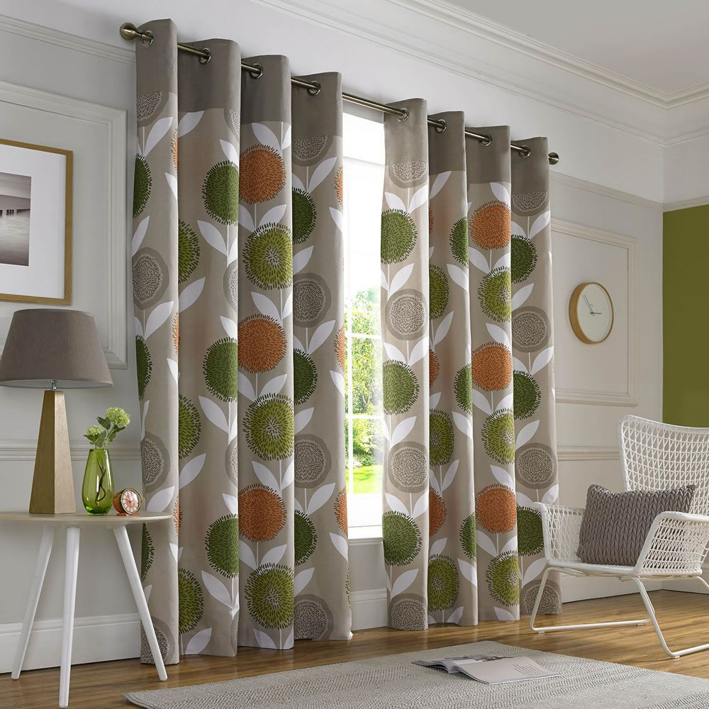 Printed Curtains Living Room Lounge Curtains Wilko Curtain Pippa Print 228x228cm Upcycling