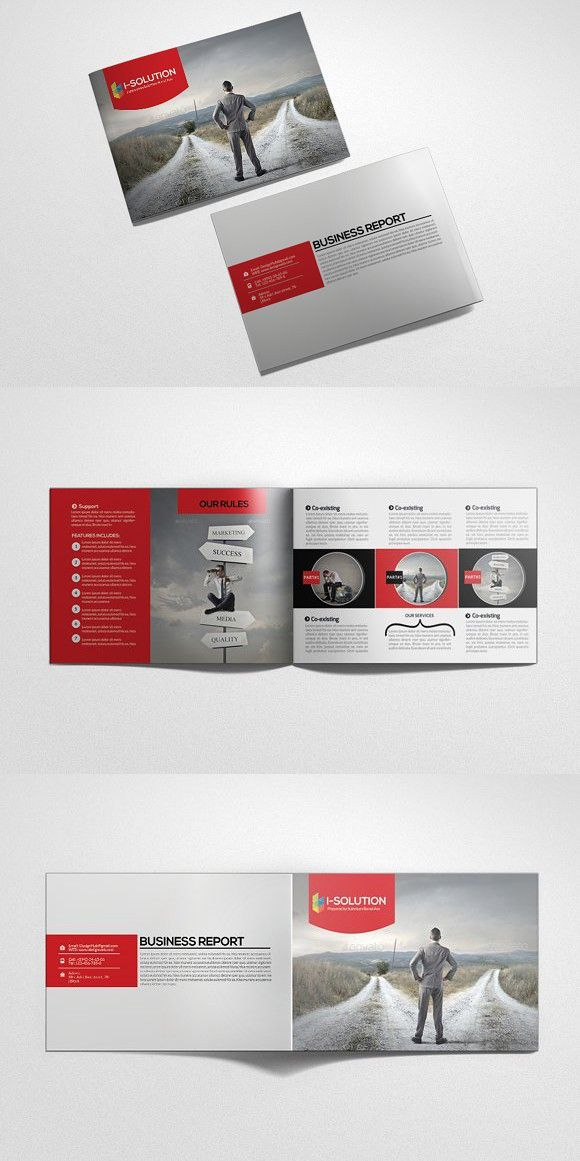 4 pages business bi fold brochure creative business card templates
