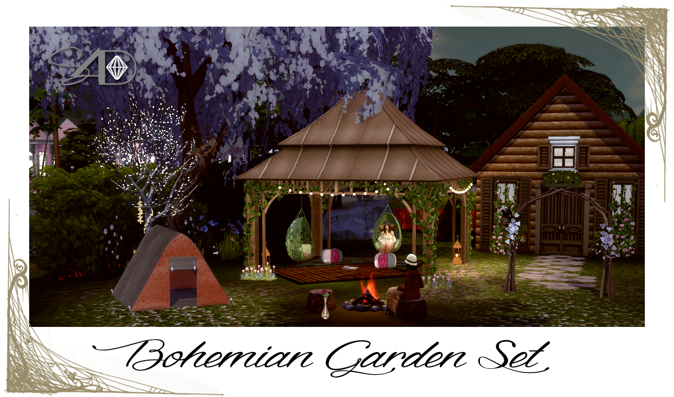 Sims 9 Designs: Ts9 to Ts9: Bohemian Garden Set  Garden set