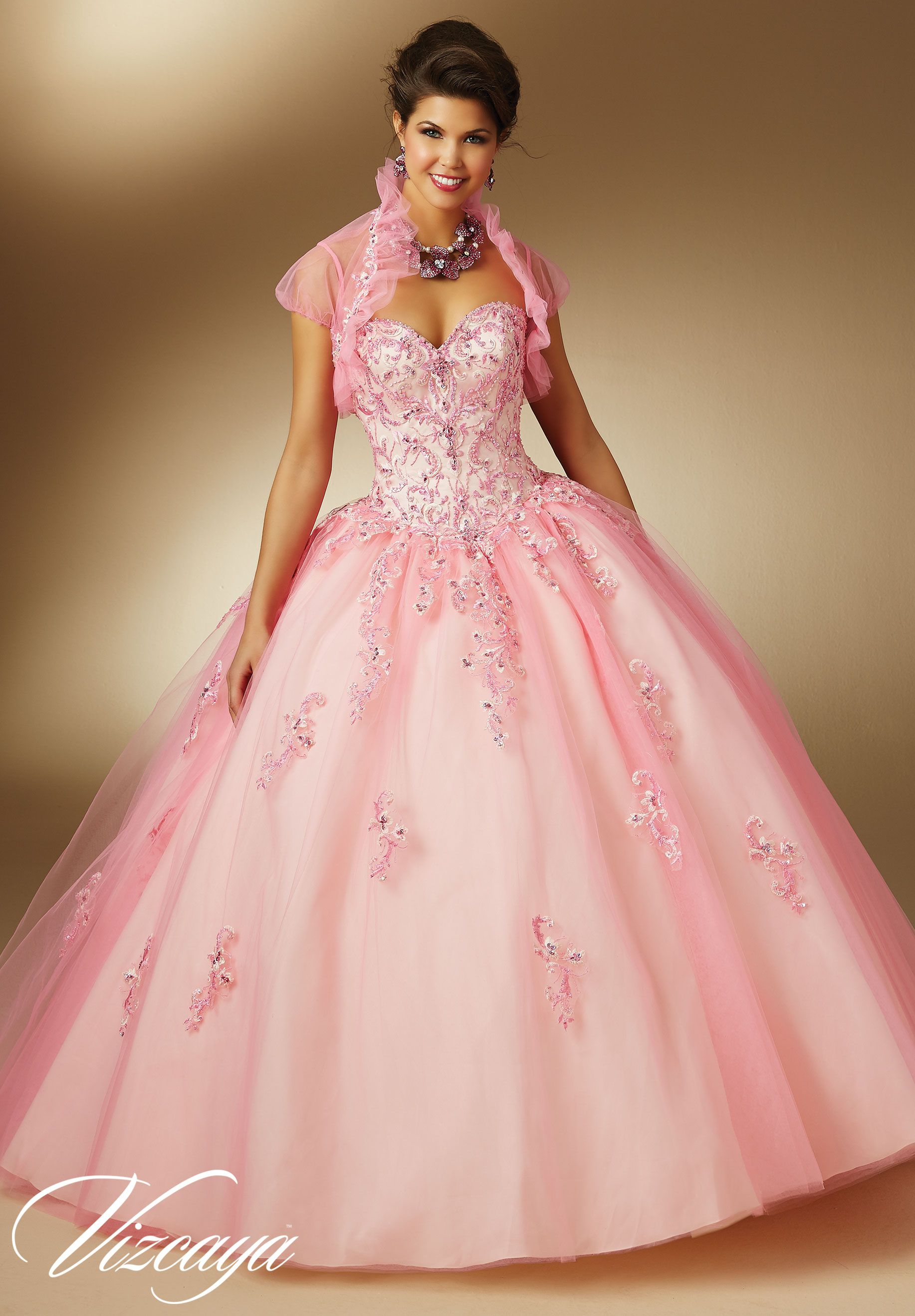 BluenTwo-Tone Embroidery and Beading on Tulle Quinceanera Dress by ...