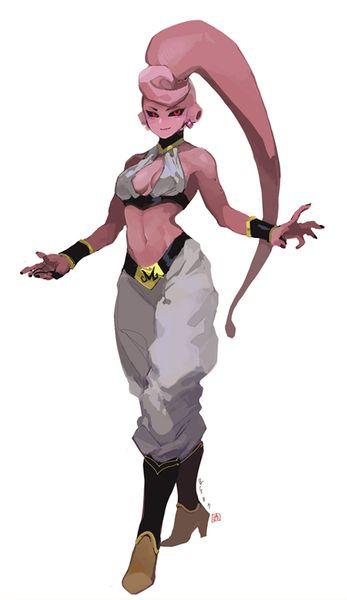 創作 女魔人 イラスト キャラクターデザイン ドラゴンボール