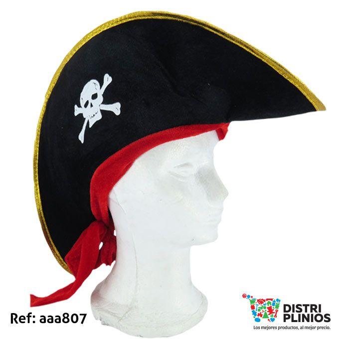 Gorro De Pirata Banda Roja Para Halloween Gorro pirata de halloween con  calavera al lado y bbef60b10d2
