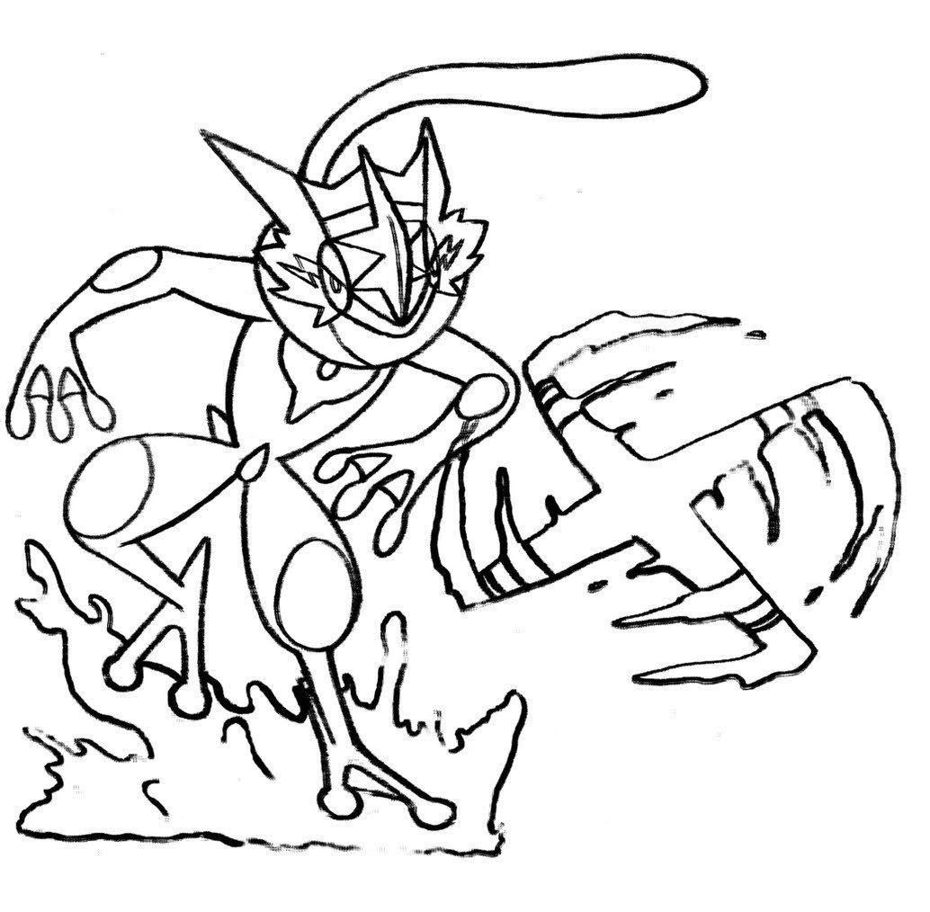 pokemon ash greninja coloring pages. pokemon ash