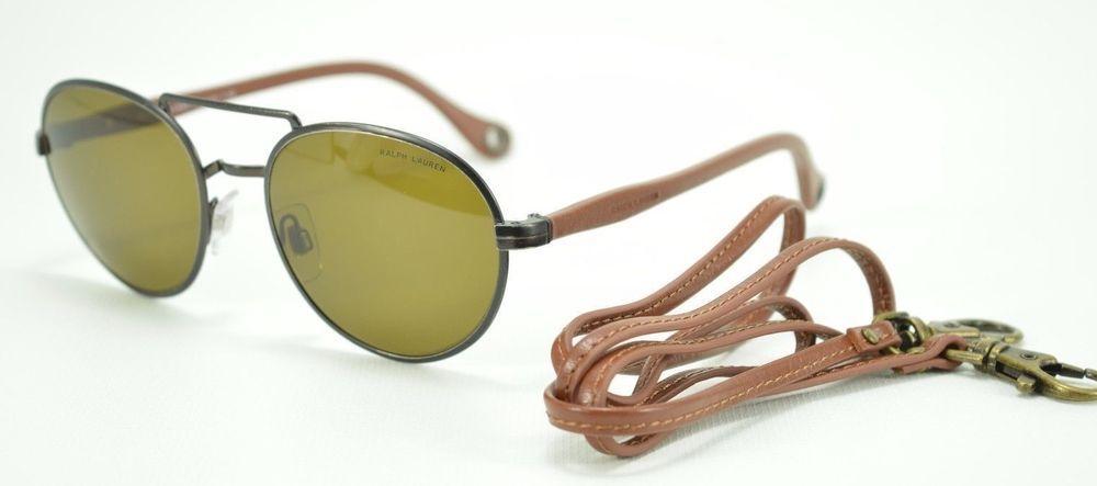 2c5e3d93b7f8 Polo Ralph Lauren Sunglasses SAFARI Vintage Gunmetal & Olive Lens 54mm  3081-Q | eBay