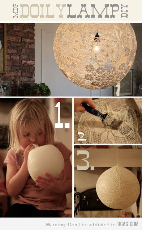 Lamp DIY or hang around the ceremony and reception areas. wonder how well this actually works and looks when made