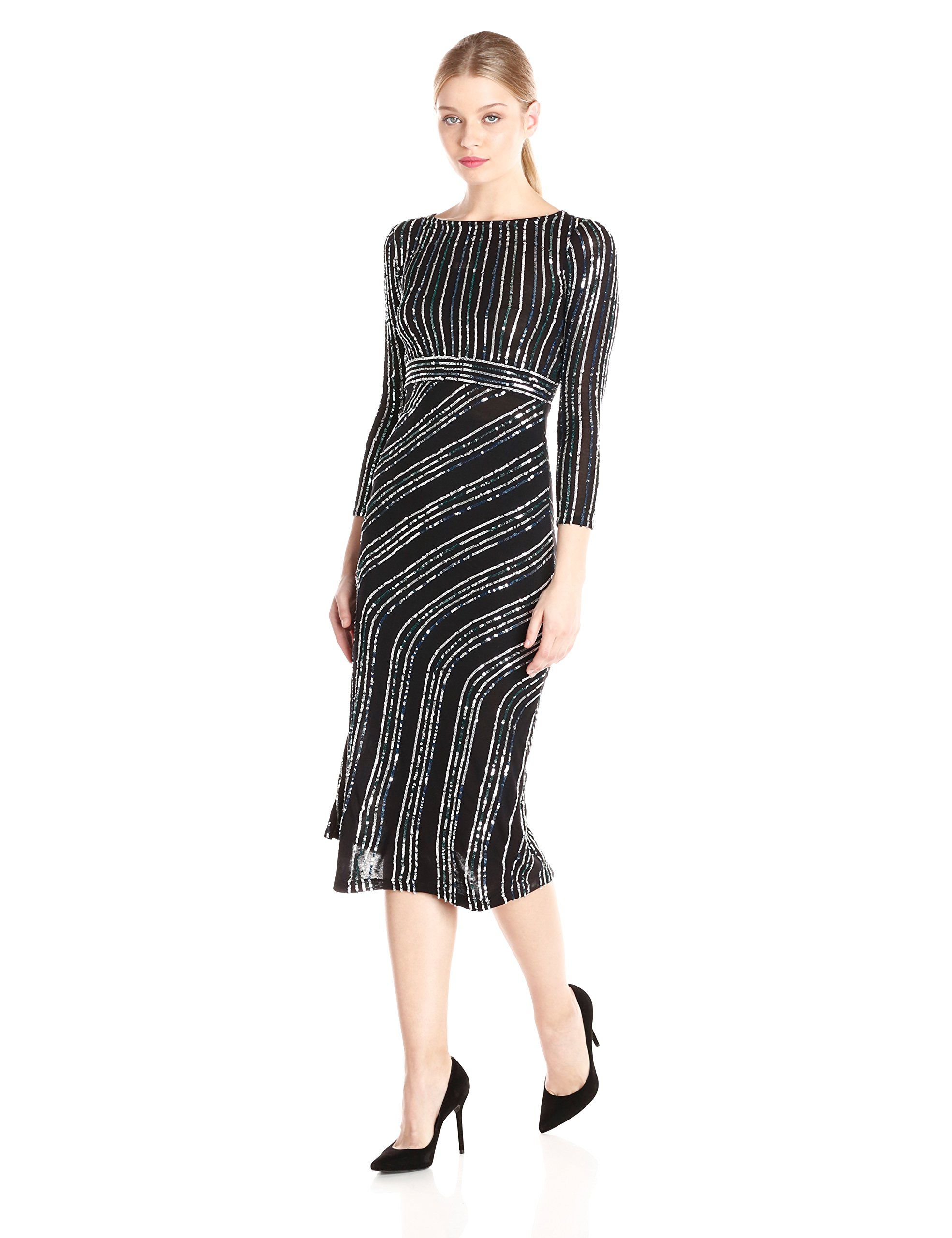 French connection womenus diana swirl long sleeve maxi dress black