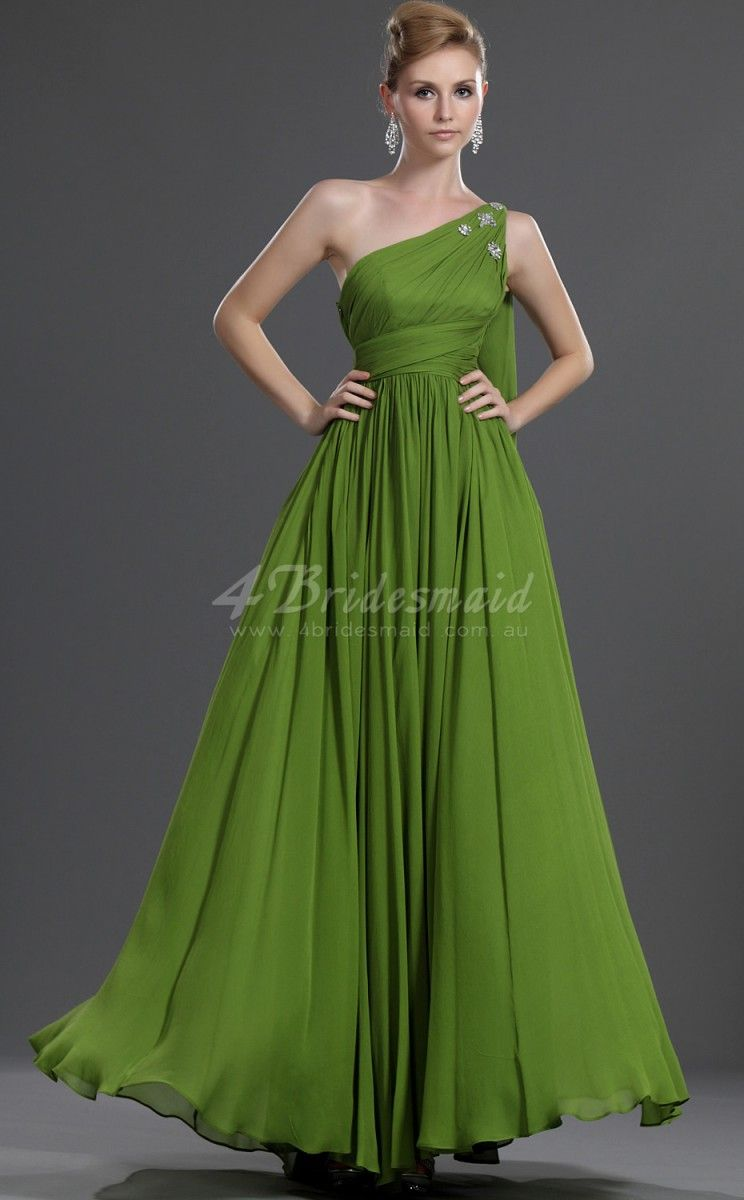 a-line-off-the-shoulder-long-lime-green-chiffon-bridesmaid-dresses ...