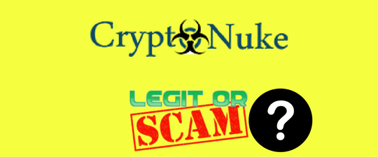 CryptoNuke Review Legit Company Or Scam? Find out ALL here:  http://aaronshara.com/cryptonuke-review.html #CryptoNuke #CryptoNukeReview #CryptoNukeScam #Bitcoin